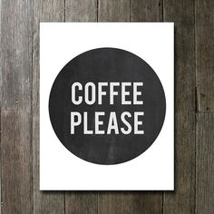 Coffee Please Kitchen sign I love coffee by CakePrintShop on Etsy, $5.70