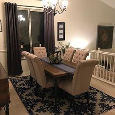 Tripton Dining Room Chair (Set of by Ashley HomeStore, Gray Dining Room Sets, Dining Room Table Decor, Dining Table Design, Living Room Decor, Condo Living, Living Rooms, Tuscan Decorating, Decorating Ideas, Decor Ideas