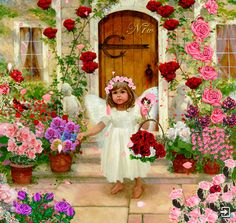 Animated Gif by I Believe In Angels, Creation Photo, Montage Photo, Angels Among Us, Artists For Kids, Animation, Angel Eyes, Rose Cottage, Illustrations