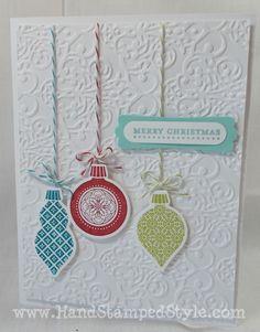 Ornament Keepsake Christmas Card- www.HandStampedStyle.com