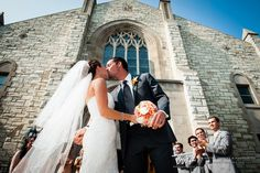 Love this angle outside the church after you exit! #TWAphoto #wedding