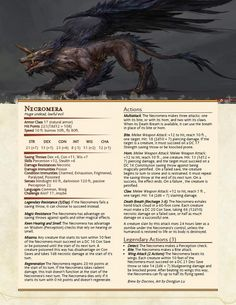 The Necromera, a champion for the aspiring Lich biologist : UnearthedArcana