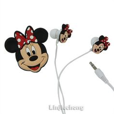 Cartoon Kids Girls Disney Minnie 3.5mm In-Ear Cute Headphones Earphone Earbuds