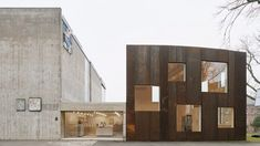 Skissernas Museum is a minimalist architecture project located in Lund, Sweden, designed by Elding Oscarson. Pole Buildings, Shop Buildings, Steel Buildings, Minimalist Architecture, Space Architecture, Contemporary Architecture, Metal Shop Building, Building A House, Conservation Architecture