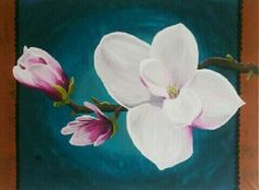 Magnolia painting, Schilderij,60x80cm for sale www.creativeartbyjessica.nl #magnolia #magnoliapainting #magnolias #schilderij #schilderijen #art #kunst #painting #paintings #flowers #flower #bloemen #bohostyle #bohemian #hippiestyle #hippie #hippiechic #bohochic #ibizastyle