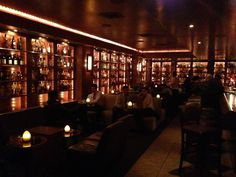 More inspiration for Shea's bar, the Amber Lounge (this one is The Brandy Library, also in NYC).
