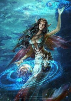 Spell Merune by PhoenixLu Fantasy Art Village Social Network for Fantasy, Pinup, and Erotic Art Lovers! Fantasy Girl, Fantasy Mermaids, Fantasy Art Women, Mermaids And Mermen, Magical Creatures, Fantasy Creatures, Mermaid Artwork, Siren Mermaid, Mermaid Pictures