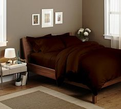 Ultra Soft & Exquisitely Smooth Genuine 100% Egyptian Cotton 1000 Thread Count Sheet Sets, Lavish Sateen Solid, Deep Pockets (18″ Pockets), 4 Piece Queen Size Sheet Set, Solid, Chocolate