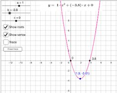 Parabola Parabola is graph of quadratic function and part of the conic sections family . In this applet you can adjust values for a, b a. Conic Section, Math Lessons, Coding, Teaching, Education, Programming, Onderwijs, Learning