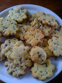 fior di biscotti con gocce di cioccolato