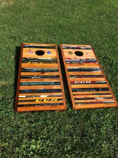 Corn hole made from old hockey sticks! by REUSTIX