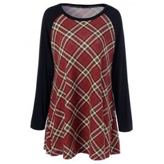 SHARE & Get it FREE | Plus Size Plaid Raglan Sleeves T-ShirtFor Fashion Lovers only:80,000+ Items·FREE SHIPPING Join Dresslily: Get YOUR $50 NOW!