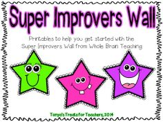 Super Improver Wall Stars-Whole Brain Teaching Teaching Methods, Teaching Strategies, Teaching Resources, Teaching Ideas, Teacher Binder, Teacher Organization, 3rd Grade Classroom, Classroom Themes, Too Cool For School