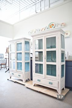 Beautiful custom furniture restyles by Mango Reclaimed. All done using van Gogh fossil paint.