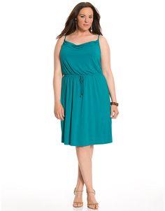7b75d9674e6 Tie waist tank dress by Lane Bryant