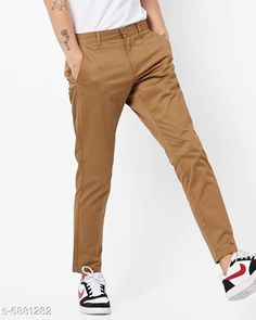 Trousers Regular Fit Men's Trousers Fabric: Cotton Pattern: Solid Type:Stiched Multipack: 1 Sizes:  S (Waist Size: 28 in Length Size: 40 in)  M (Waist Size: 30 in Length Size: 40 in)  L (Waist Size: 32 in Length Size: 40 in)  XL (Waist Size: 34 in Length Size: 40 in)  XXL (Waist Size: 36 in Length Size: 40 in)  Country of Origin: India Sizes Available: 28, 30, 32, 34, 36   Catalog Rating: ★4 (402)  Catalog Name: Ravishing Unique Men Trousers CatalogID_1098562 C69-SC1212 Code: 854-6881282-8901