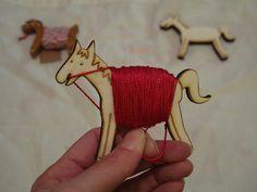 Horse embroidery thread bobbin - cute as