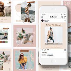 Bohemian Vibe Canva Instagram Post Templates — Stelle Design Studio   Branding  Web Design Canva Instagram, Instagram Grid, Instagram Post Template, Instagram Posts, Story Template, Insta Story, Web Design, Polaroid Film, Branding