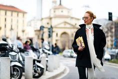 Street style from Milan fashion week autumn/winter '16/'17: