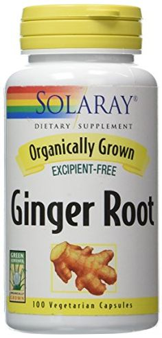 Solaray Organic Ginger Root Supplement, 540 mg, 100 Count - http://alternative-health.kindle-free-books.com/solaray-organic-ginger-root-supplement-540-mg-100-count/