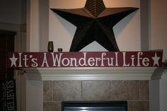 It's A Wonderful Life Wood Sign. $59.99, via Etsy.