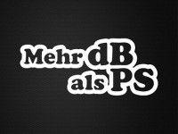 Stickerinsel - Autoaufkleber - Mehr dB als PS