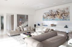 Luxurious Neutral white and grey Living Room
