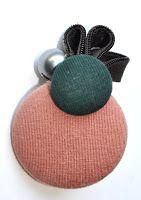 hand & co: broche botones forrados y cremallera
