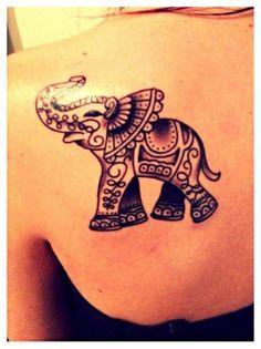 Elephant tattoo # elephant #tatttoo