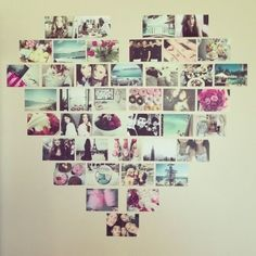 Pictures of people you love and made into a heart!! And I have done it :D