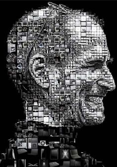 Steve Jobs made up of Apple products