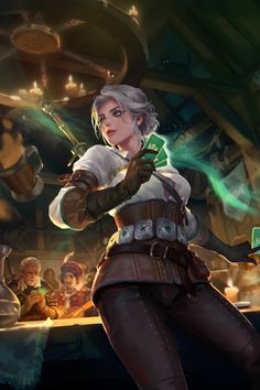 Witcher 3 Art, Ciri Witcher, The Witcher Game, Black Girl White Hair, Kissing Couples Passionate, Female Knight, Fan Art, Scenery Wallpaper, Fantasy Character Design