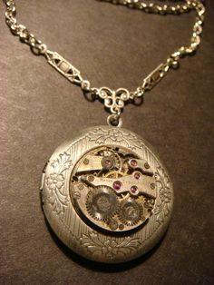 Steampunk Neo Victorian Watch Movement LOCKET by ClockworkAlley, $30.00