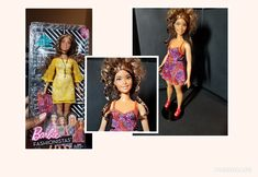 Barbie Fashionista Trimmed her hair (to show off those boho braids) and a change to the spare dress that she came with. Bright Pink Lips, Barbie Fashionista, Almost Always, Beautiful Dolls, Lip Colors, One Pic, New Hair, Fashion Dolls, New Look
