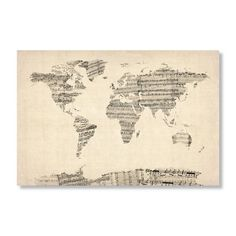 Have to have it. Old Sheet Music World Map by Michael Tompsett Wall Art - $49.95 @hayneedle