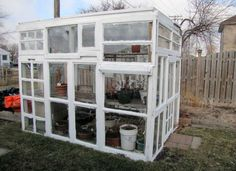 Build your own potting shed or greenhouse with old windows