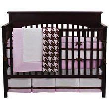 "Bacati Metro Pink, White & Chocolate 4pc Crib Bedding Set - Bacati  - Babies""R""Us"
