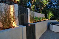 fontaine extérieure encastrable de design contemporain