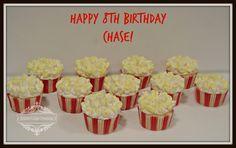Cupcake Gallery - Kristen's Cake Creations - Popcorn themed cupcakes