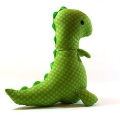 Stuffed Dinosaur - Plush T-Rex Doll Cute Dinosaur, Dinosaur Stuffed Animal, Stuffed Animals, Diy Crafts For Kids, Arts And Crafts, Craft Ideas, Diy Ideas, Party Ideas, Fabric Combinations