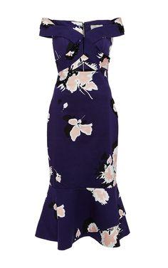 Blue Embellished V Neck Dumas Dress by Johanna Ortiz Now Available on Moda Operandi