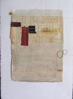 Blanca Serrano works on paper #stitching #collage