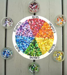 dotted color wheel, hole punches