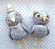 wedding cake toppers, owl obsess, owl cake wedding, grey weddings, wedding cakes, grey owl, owl wedding cake topper, birds, owl cakes
