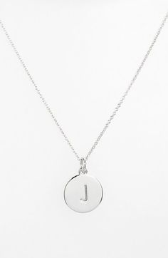 18 best engraved necklace images on pinterest engraved necklace kate spade one in a million initial necklace in silver letter j aloadofball Images
