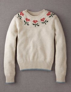 Vintage Jumper Vintage Jumper, Mini Boden, Jumpers, Vintage Flowers, Knits, Knitwear, Girl Outfits, Autumn, Pullover