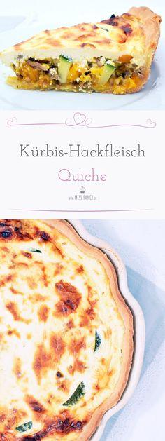 Tolle Rezepte im Herbst sind die, die mit Kürbis gemacht sind. Diese Quiche ist für Kürbis-Liebhaber genau das Richtige. #Kürbis #Quiche