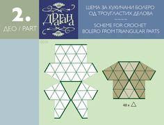 Interesting garment construction. Todo para Crear ... : todo par crear con cuadrados en crochet moldes 1y 2