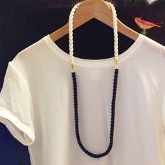 3 pieces cord necklace black desideri design