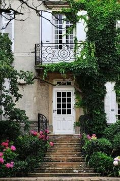 luscious house exterior ivy ironwork juliet balcony, I can see myself living here now until i want to have children.